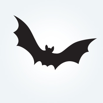 Samolepka netopýra 25cm